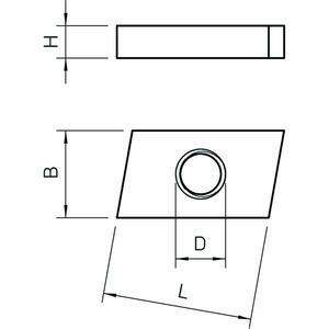 ACMSN M10 A4, Gleitmutter für Profilschienen Mittel M10, V4A, A4