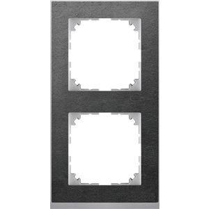 M-Pure Decor-Rahmen, 2fach, Schiefer/aluminium, M-Pure Decor