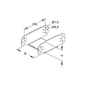 RGE 110.300, Gelenkstück für KR, vertikal, 110x300 mm, Stahl, bandverzinkt DIN EN 10346, inkl. Zubehör