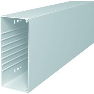 WDK100230RW, Wand- und Deckenkanal mit Bodenlochung 100x230x2000, PVC, reinweiß, RAL 9010