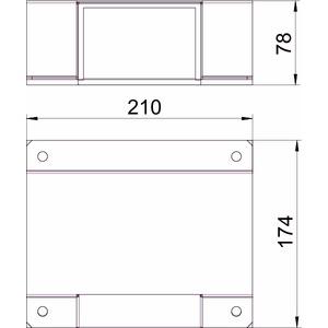 BSKM-TA 0711RW, T-Abzweig für Wand- und Deckenmontage 70x110, St, L, reinweiß, RAL 9010