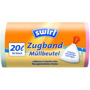 20 l Zugband Müllbeutel   VPE, Swirl® 20 l Zugband Müllbeutel, VPE