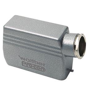 Tüllengehäuse A16 und D25 aus Aluminium der Höhe 72mm mit Längsverriegelungsnocken, 1xM25 Verschraubung und Kabeleinführung seitlich-T708716MV