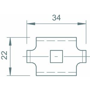 GKS 34 A2, Klemmstück für Gitterrinnenbefestigung, V2A, A2