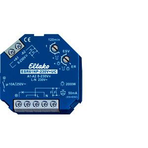 ESR61NP-230V+UC, Stromstoß-Schaltrelais 230V+UC. 1 Schließer nicht potenzialfrei 10A/250VAC
