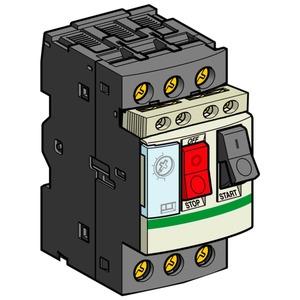 Motorschutzschalter, 3p+1S+1Ö, 0,63-1A, Tasterbetätigung, Schraubanschluss