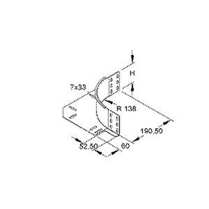 REK 85 F, Eckanbaustück für KR, Höhe 85 mm, mit ungelochtem Seitenholm, Stahl, feuerverzinkt DIN EN ISO 1461, inkl. Zubehör