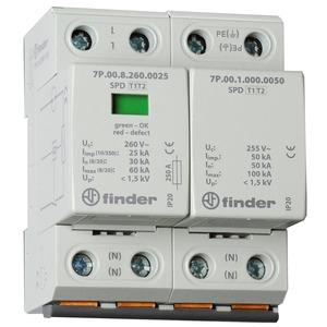 7P.02.8.260.1025, Überspannungsableiter Typ 1 + 2, Varistor und Funkenstrecke, für einphasige TN-S und TT-Netze