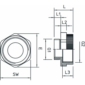 107 E M 20-25 PA, Erweiterung M - M M20-M25, PA, lichtgrau, RAL 7035