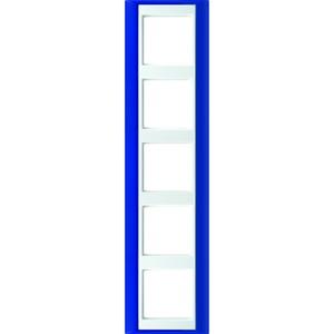 AP 585 BL WW, Rahmen, 5fach, für waagerechte und senkrechte Kombination