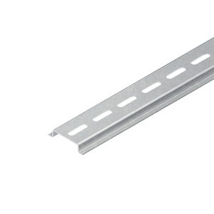 2933/2 GL, Tragschiene, Hut-Profil, 35x7,5x2000 mm, gelocht, Stahl, galvanisch verzinkt DIN EN ISO 2081, dickschichtpassiviert