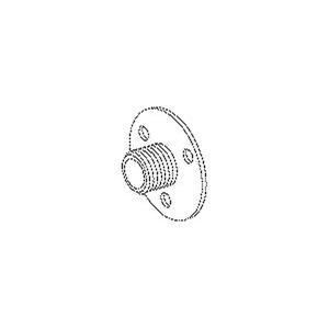 365, Scheibennippel mit Flansch, Länge 8,5 mm, M10x1, Innen-Ø 6,5 mm, Messing, blank