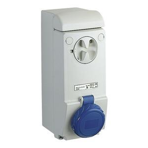 Wandsteckdose verriegelt, 63A, 3p+N+E, 200-250 V AC, IP65