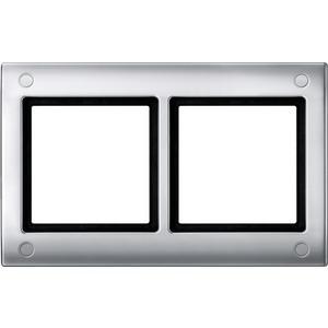 AQUADESIGN-Rahmen mit Verschraubung, 2fach, aluminium