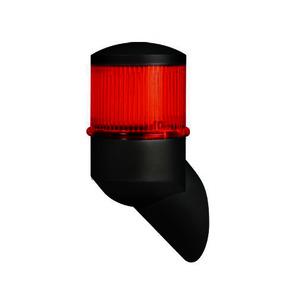Xenon Blitzleuchte   Gehäuse grau   Kalotte rot   Profi Flash   230 VAC