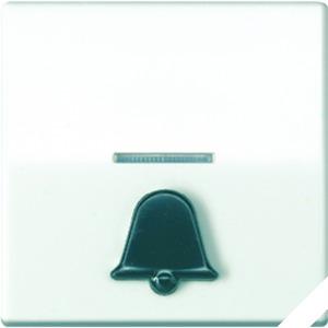AS 591 K1KO5, Wippe, abtastbares Symbol Klingel, Linse, Lichtleiter, Zentralplatte, für beleuchtbare Taster
