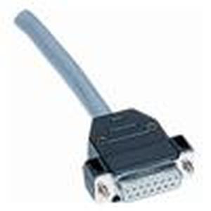 Schalengehäuse, Baugröße: D-Sub 1, mit kurzen Verriegelungsschrauben, Gewinde 4-40 UNC, gerader Kabeleingang, 1x
