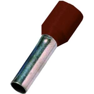 ICIAE0146BR, Isolierte Aderendhülse nach 46228 Teil 4,0,14qmm 6 mm Länge verzinnt braun