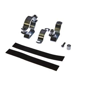 zubeh opt,montageset 45,Stahl verzinkt 2 Stück mit Antirutschband,für LED-Leuchten 45rund