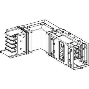 KSA Winkelelement, 1000A, hochkant, Standardlänge