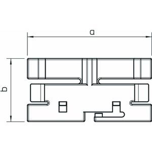 2370 130, Oberteilklammer 130mm, PVC, lichtgrau, RAL 7035