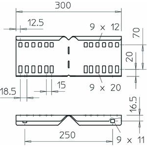 LWVG 110 FS, Winkelverbinder für Kabelleiter 114x300, St, FS