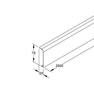SD70.6, Sockelleistenoberteil, 70x20x2000 mm, Kunststoff PVC-hart, RAL 9001, cremeweiß