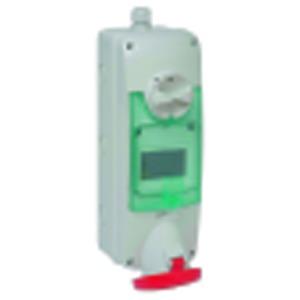 CEE Wandsteckdose verriegelt, 63A, 3p+N+E, 380-415 V AC, IP65