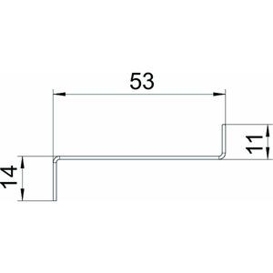 GS-TW70, Trennwand für GS 70 54x24x2000mm, St