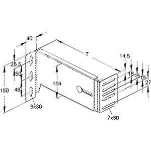 GBKV 160-220, Universal Wandkonsole, verstellbar, Wandabstand 158-220 mm, Stahl, bandverzinkt DIN EN 10346, inkl. Zubehör