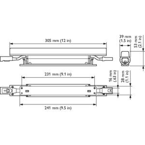 LS515X LED5/3000 100-240V L305 NB PD, eW Fuse Powercore - Neutralweiß - 1219 mm - Weiß - Farbe: Weiß - Länge: 1219 mm