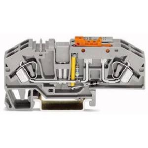 Erdleiter-Trennklemme mit Prüfmöglichkeit 230 V 6 mm² grau