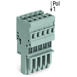 769-112, 1-Leiter-Federleiste 4 mm² 12-polig grau