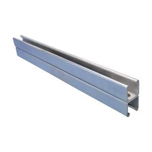 AA25H6000PG, Montageschiene Typ AA, mit Langloch, Stahl, PG, 6.000 mm x 82 mm x 41 mm x 2,5 mm (19,69' x 3,23 x 1,61 x 13 GA)