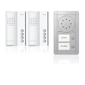 Portier Audio Set Freisprechstelle 2 WE, silber/weiß