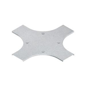 RKSDV 200, Deckel für Kreuzung für KR, Breite 204 mm, mit Drehriegel, Stahl, bandverzinkt DIN EN 10346