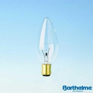 Kerzenlampe BA15d klar 230V 40W