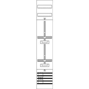 1ZF511, Zählerfeld BH5 1-Feld nicht verdrahtet mit Zählerkreuz