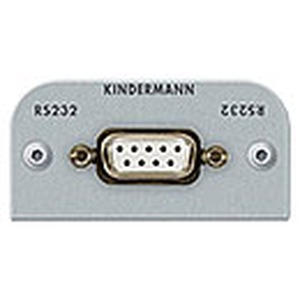 Anschlussblende mit Lötanschluss, Seriell RS232 (9-Pin SubD) Halbblende, Aluminium eloxiert
