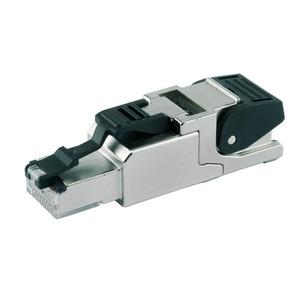J00026A2000, feldkonfektionierbarer RJ45-Steckverbinder MFP8 T568 A Cat.6A(IEC), AWG24/1-AWG22/1, AWG27/7-AWG22/7