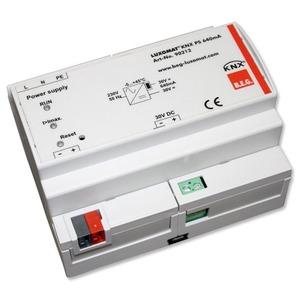 KNX PS 640 mA, Die Spannungsversorgung KNX PS besitzt eine integrierte Drossel, um den BUS mit einer konstanten, stabilisierten Spannung zu versorgen