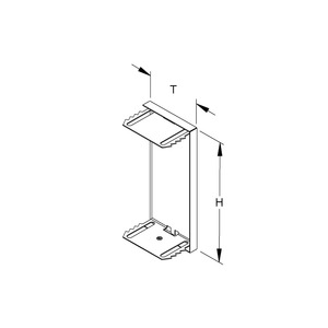 GADU 220T60 S, GK-Endabschlussdeckel, umgreifend, 222x61 mm, Stahl, bandverzinkt DIN EN 10346