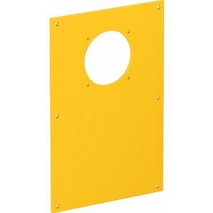 VHF-P12, Abdeckplatte 1x Anbausteckdose 38x38 166x105mm, PVC, rapsgelb, RAL 1021