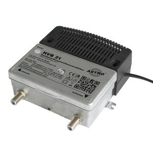 NBA25DB.1, Universeller Breitbandverstärker / Vorweg 25 dB / Ausgangspegel Vorweg 97 dBµV / Verstärkung Rückweg 22 dB