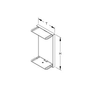 GADU 220T80 WA, GK-Endabschlussdeckel, umgreifend, 222x80 mm, Stahl, bandverzinkt DIN EN 10346, pulverbe., RAL 9006, weißaluminium