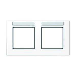 AC 5820 BFNA WW, Rahmen, 2fach, Schriftfelder 9 x 55 mm, bruchsicher, für waagerechte Kombination