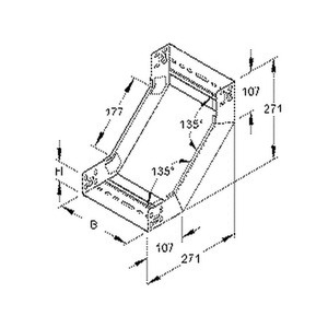 RSD 60.100, Steigstück für KR, 60x102 mm, mit ungelochten Seitenholmen, Stahl, bandverzinkt DIN EN 10346, inkl. Zubehör