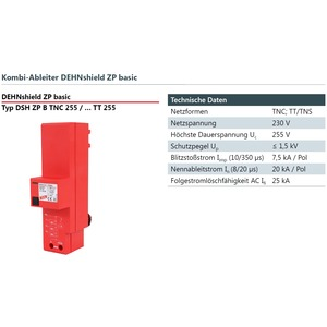 Überspg.-Schutz DSH ZP B TNC 255 3+0