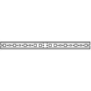 ED52, Hutprofilschiene 35x15mm, 2FB 446mm, Montage zwischen Montagegerüst