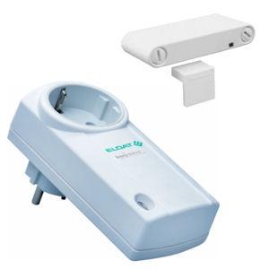 Set Fensterkontakt Easywave 868 MHz mit Sensor Fensterkontakt RTS16 und Zwischenstecker RCP05 Ein/aus mit Steckersystem D/A/NL/S/N